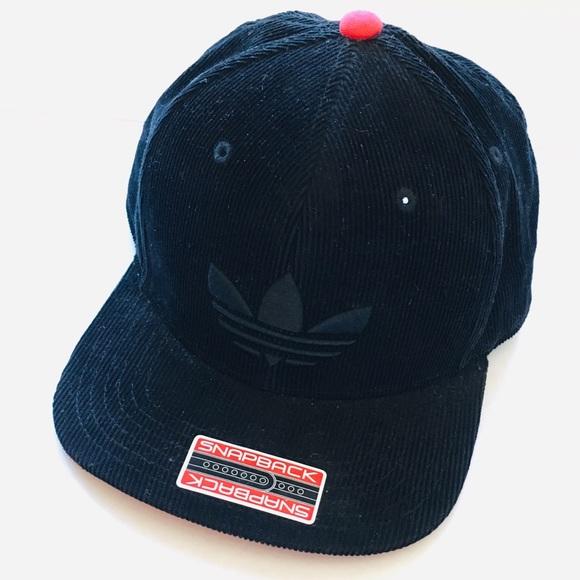 18e24b53f41d8 Adidas Trefoil Corduroy SnapBack Hat